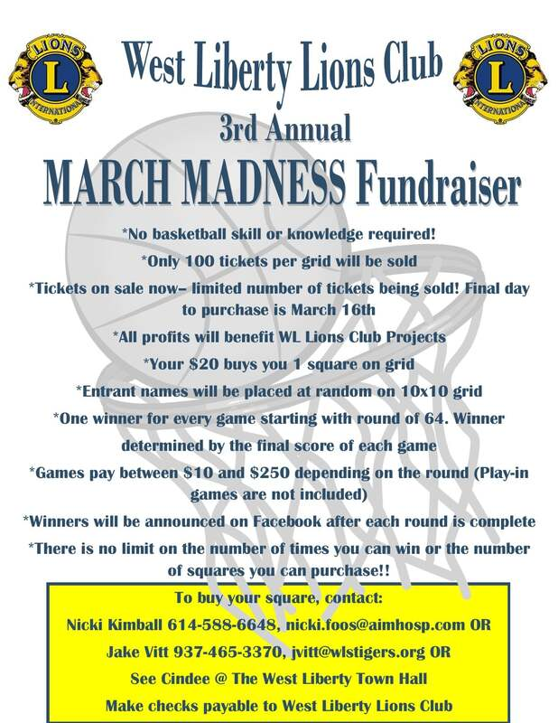 West Liberty Lions March Madness Fundraiser